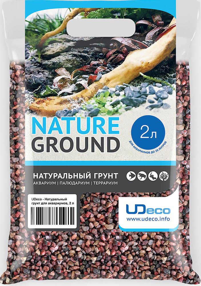 Грунт для аквариума UDeco Розовый гравий, натуральный, 6-8 мм, 2 л грунт для аквариума udeco темный гравий натуральный 6 9 мм 6 л