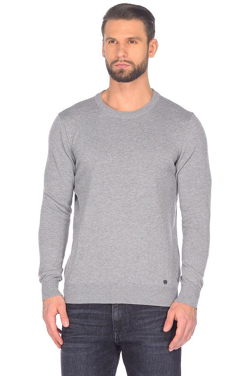 Джемпер мужской Baon, цвет: серый. B638201_Cold Grey Melange. Размер L (50)B638201_Cold Grey Melange
