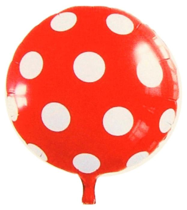 Sima-land Шар воздушный Круг цвет красный в белый горох sima land антистрессовая игрушка заяц хрустик 05 цвет красный