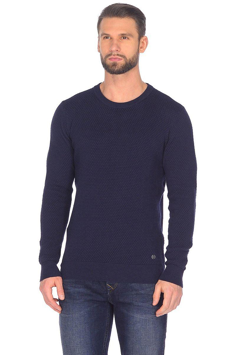 Джемпер мужской Baon, цвет: синий. B638001_Deep Navy Melange. Размер XXL (54) джемпер мужской baon цвет синий b637530