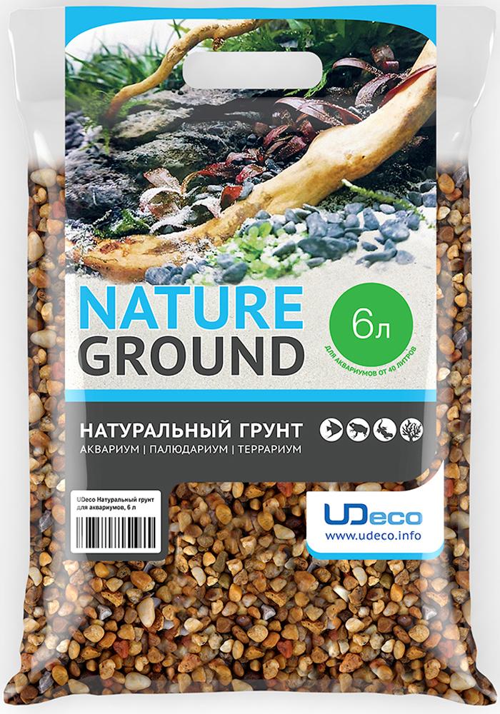 Грунт для аквариума UDeco Желтый гравий, натуральный, 6-9 мм, 6 л грунт для аквариума udeco темный гравий натуральный 6 9 мм 6 л