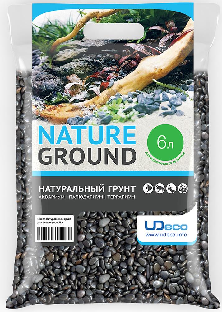 Грунт для аквариума UDeco  Темный гравий , натуральный, 6-9 мм, 6 л - Аксессуары для аквариумов