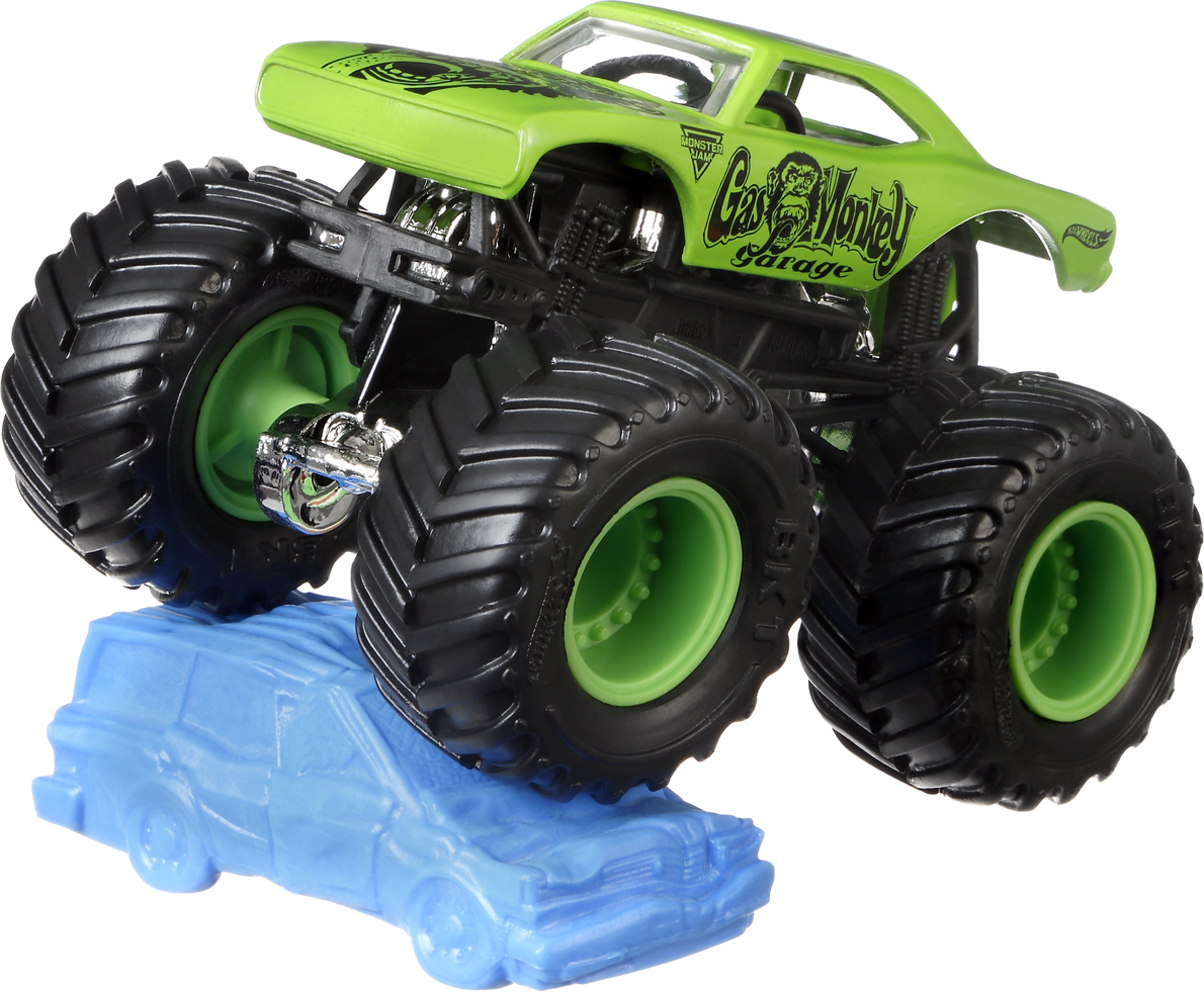 Hot Wheels Monster Jam Трековая машинка Gas Monkey Garage mattel машинка hot wheels monster jam бэтмен