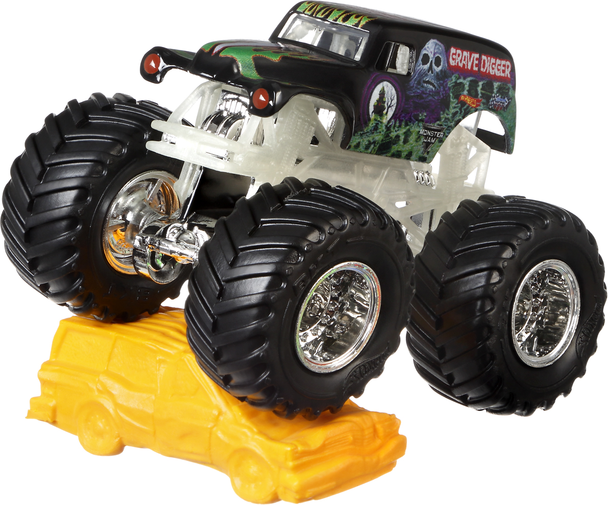 Hot Wheels Monster Jam Трековая машинка Grave Digger mattel машинка hot wheels monster jam бэтмен