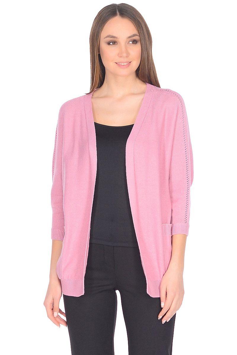 Кардиган женский Baon, цвет: розовый. B148002_Oregano. Размер L (48)