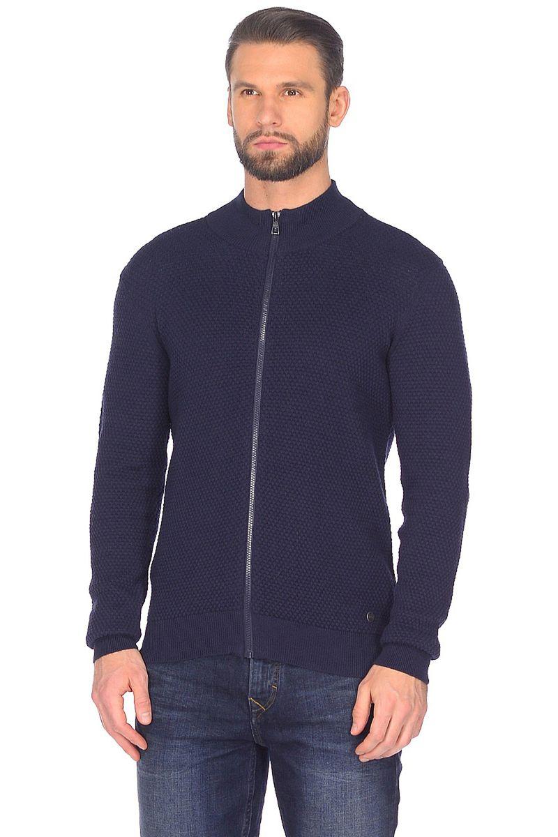 Кофта мужская Baon, цвет: синий. B648001_Deep Navy Melange. Размер S (46)