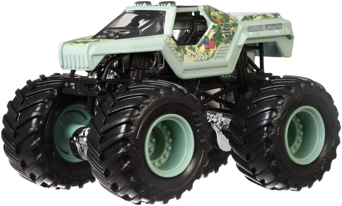 Hot Wheels Monster Jam Трековая машинка Soldier Of Fortune машинки toystate машинка toystate