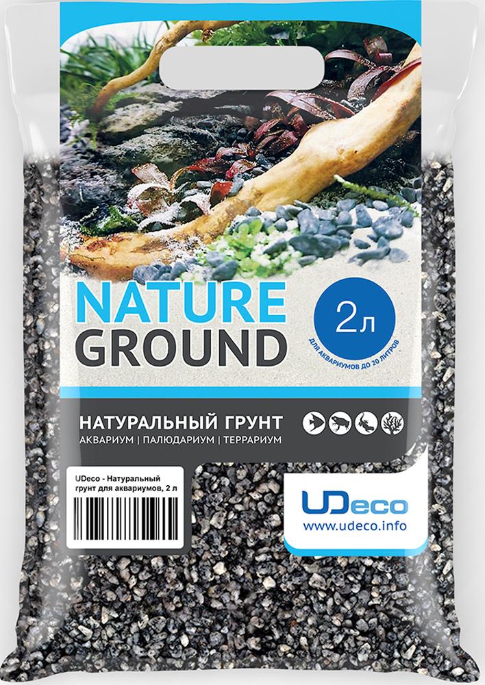 Грунт для аквариума UDeco Серый гравий, натуральный, 4-6 мм, 2 л грунт для аквариума udeco темный гравий натуральный 6 9 мм 6 л