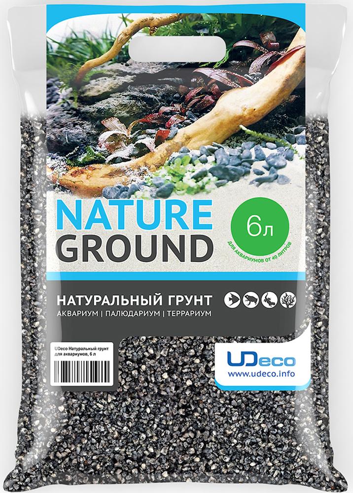 Грунт для аквариума UDeco Серый гравий, натуральный, 4-6 мм, 6 л грунт для аквариума udeco темный гравий натуральный 6 9 мм 6 л