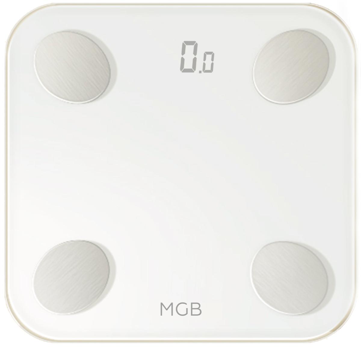 Умные весы MGB  Body Fat Scale Glass Edition , цвет: белый - Напольные весы