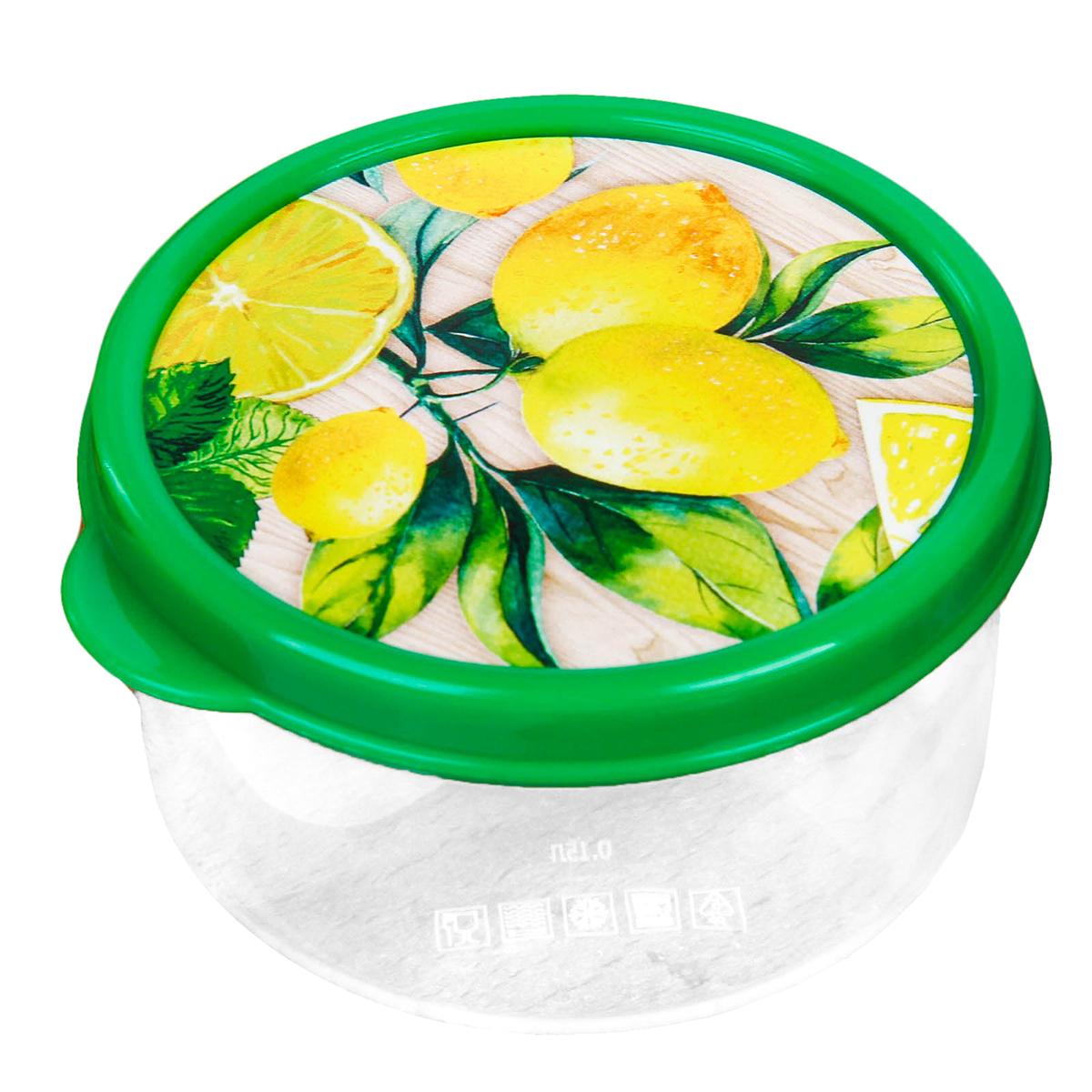 """Ланч-бокс """"Лимоны"""" изготовлен из качественного пищевого пластика. Он снабжен плотно закрывающейся крышкой, а это значит, что вы сможете брать на работу, в дорогу или на пикник разнообразную, а самое главное - вкусную и полезную пищу! Оригинальный рисунок на крышке поднимет настроение хозяину и окружающим.  Контейнер прост и удобен в обращении: его можно хранить в холодильнике, разогревать в микроволновой печи, мыть в посудомоечной машине."""