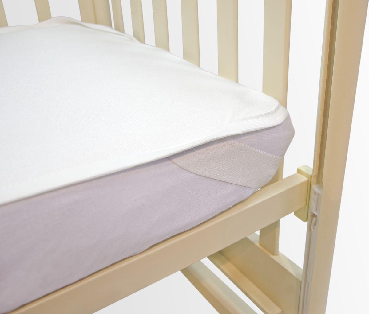OL-Tex Наматрасник детский непромокаемый цвет белый 60 х 120 см