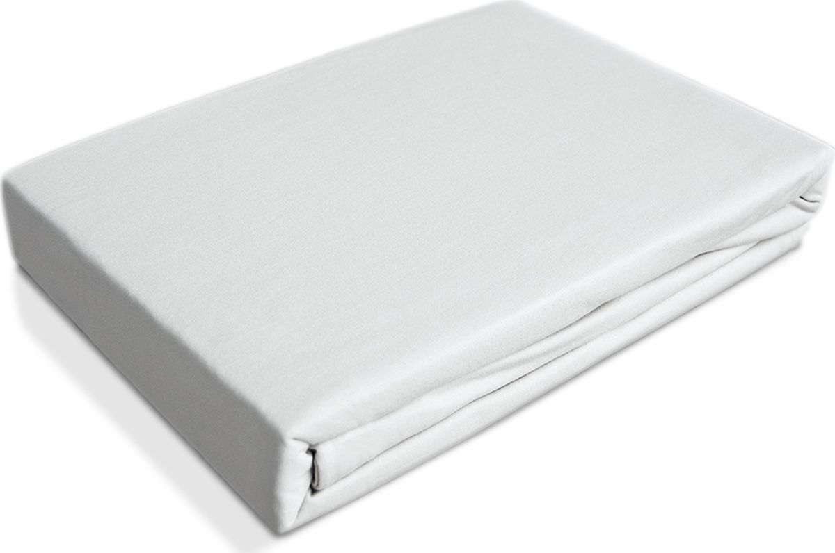 OL-Tex Простыня детская Baby на резинке цвет белый 60 х 120 см 2 шт простыни swaddledesigns простынь детская на резинке fitted crib sheet 140х70