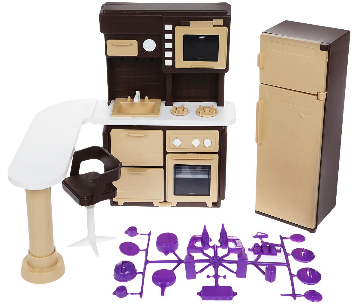 Огонек Набор мебели для кукол Коллекция Кухня набор мебели огонек для столовой коллекция