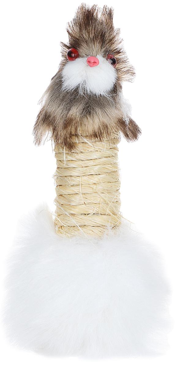 Игрушка-когтеточка для кошек Zoobaloo Заяц, длина 15 см игрушка для кошек zoobaloo удочка с мышкой длина 40 см