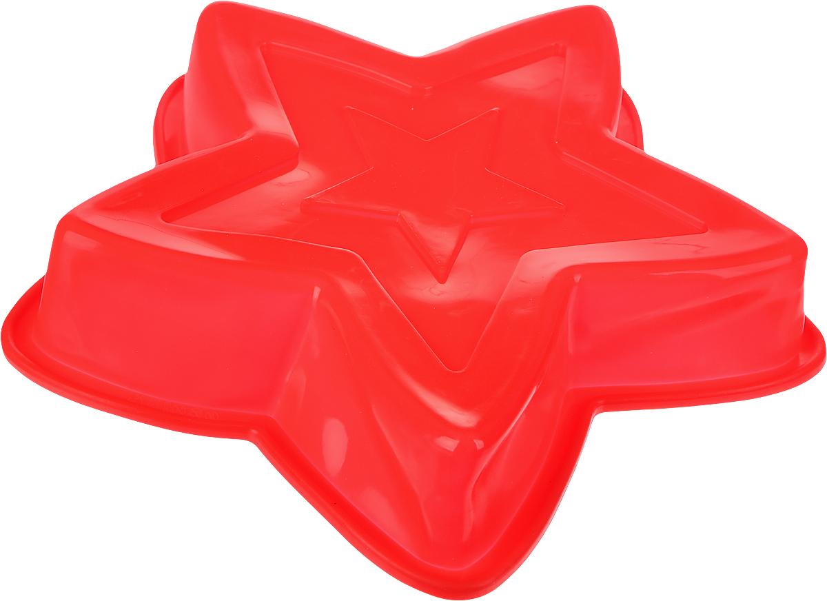 "Форма для выпечки Доляна ""Звезда"", цвет: красный, 27 х 27 см"