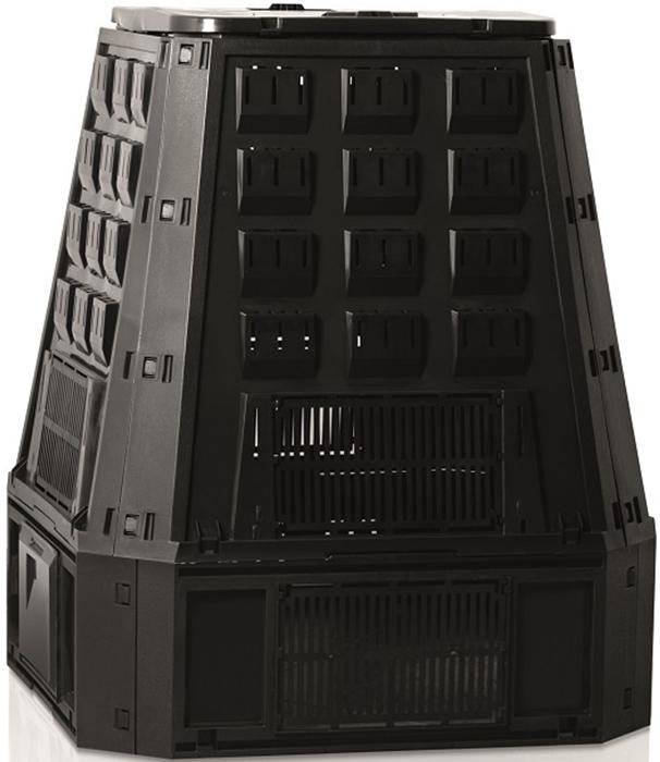 Компостер садовый Prosperplast Evogreen, цвет: черный, 630 лIKEV630C-S411Компостер Prosperplast Evogreen быстро преобразует органические отходы в удобрения для садового участка. Объем изделия оптимален для сада или дачи. Компостер обладает небольшим весом и удобен в использовании. Объём: 630 лВес: 10,5 кг.