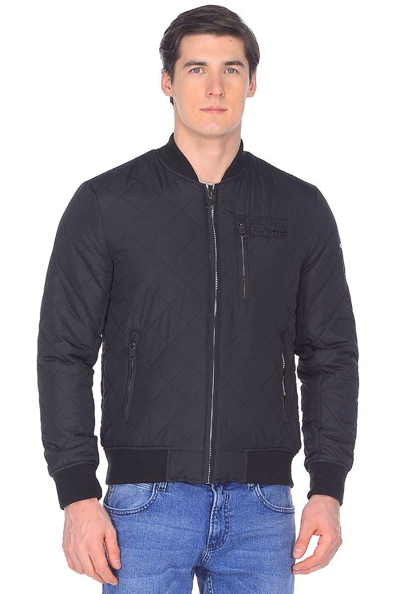 Куртка мужская Baon, цвет: черный. B538001_Black. Размер XL (52) куртка мужская baon цвет коричневый b537509 wood размер xl 52