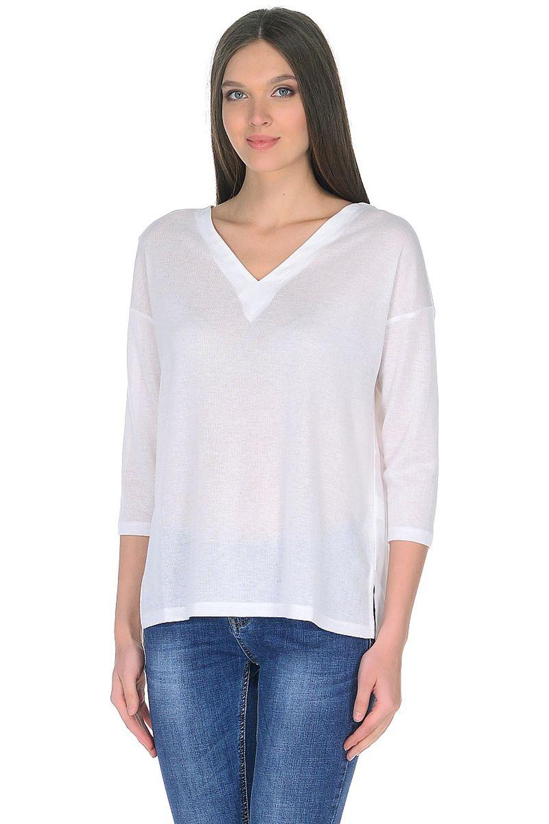Лонгслив женский Baon, цвет: белый. B218003_Milk. Размер XL (50)B218003_Milk