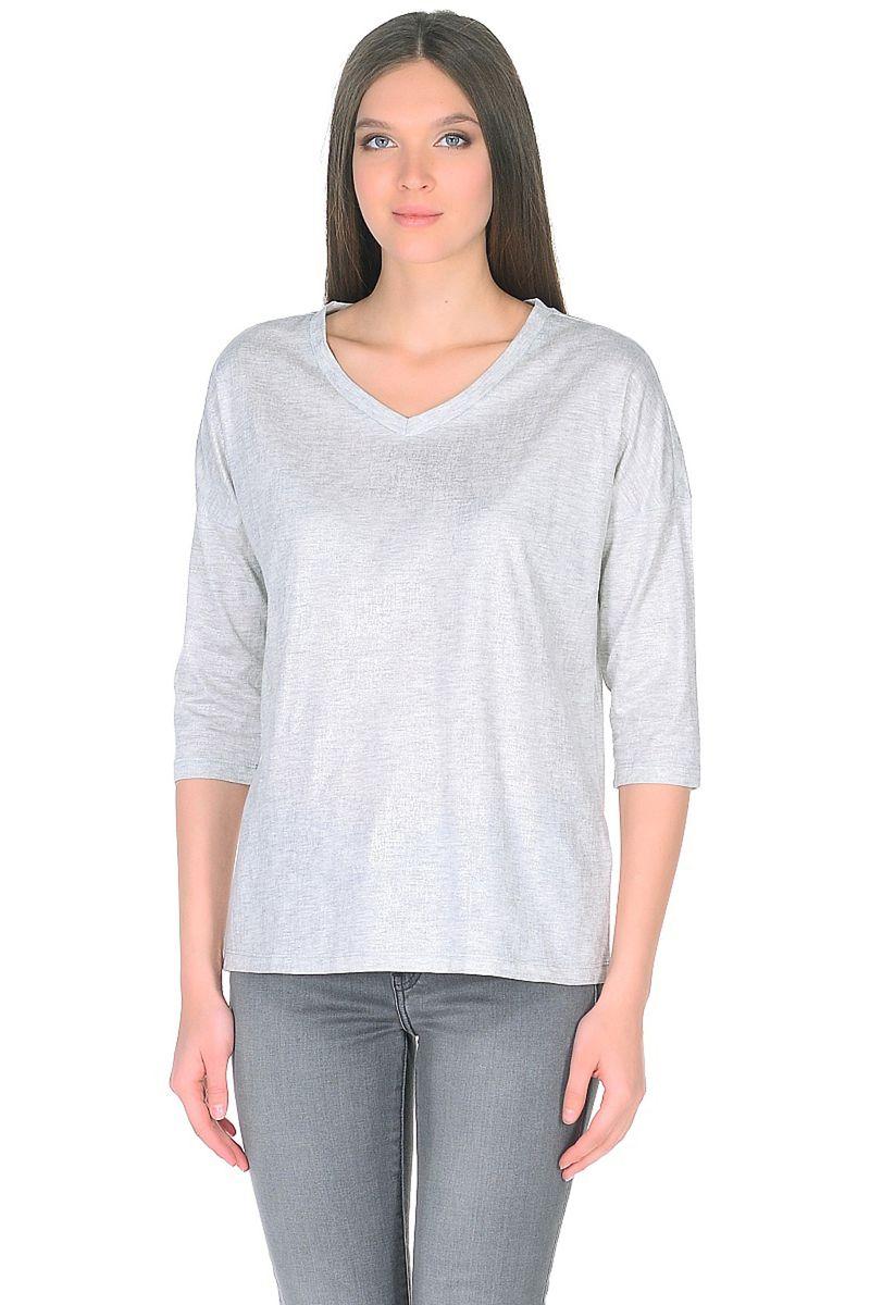 Лонгслив женский Baon, цвет: серый. B218007_Silver Melange. Размер L (48) пуховик женский baon цвет синий b007569
