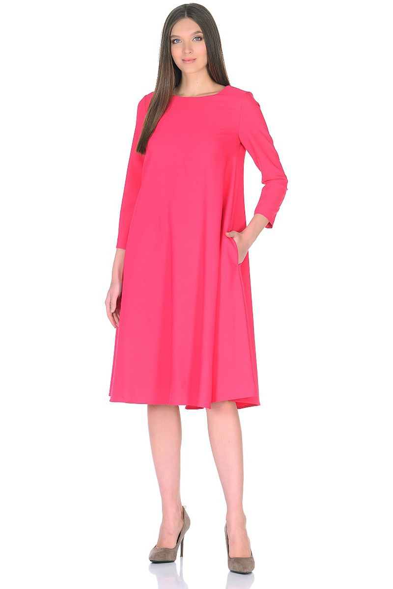 Платье женское Baon, цвет: розовый. B458009_Radish. Размер M (46)B458009_Radish