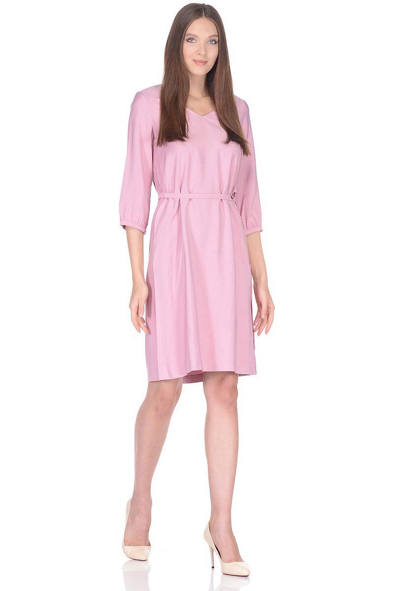Платье женское Baon, цвет: розовый. B458015_Oregano. Размер L (48)B458015_Oregano