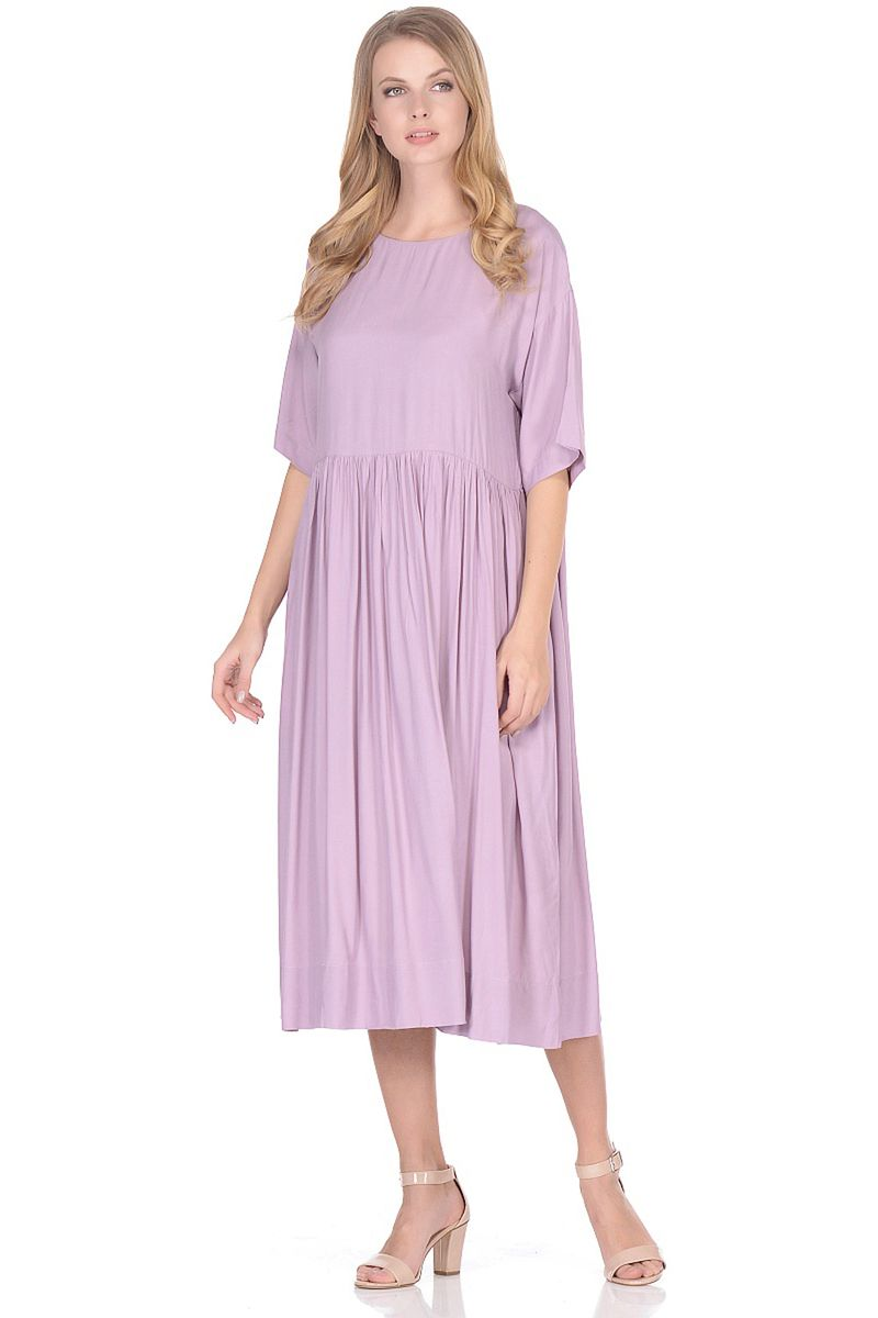 Платье женское Baon, цвет: розовый. B458018_Heather. Размер XXL (52)B458018_Heather