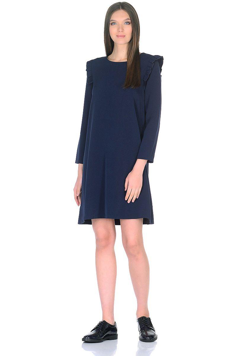Платье женское Baon, цвет: синий. B458005_Dark Navy. Размер S (44)B458005_Dark Navy