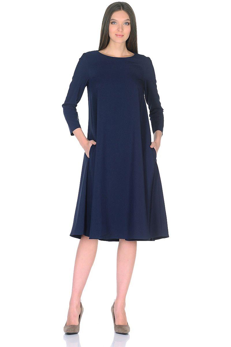 Платье женское Baon, цвет: синий. B458009_Dark Navy. Размер S (44)B458009_Dark Navy