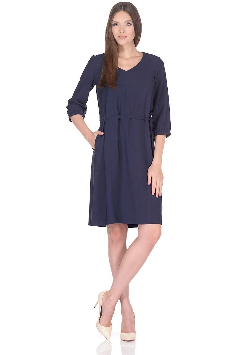 Платье женское Baon, цвет: синий. B458015_Dark Navy. Размер L (48)B458015_Dark Navy