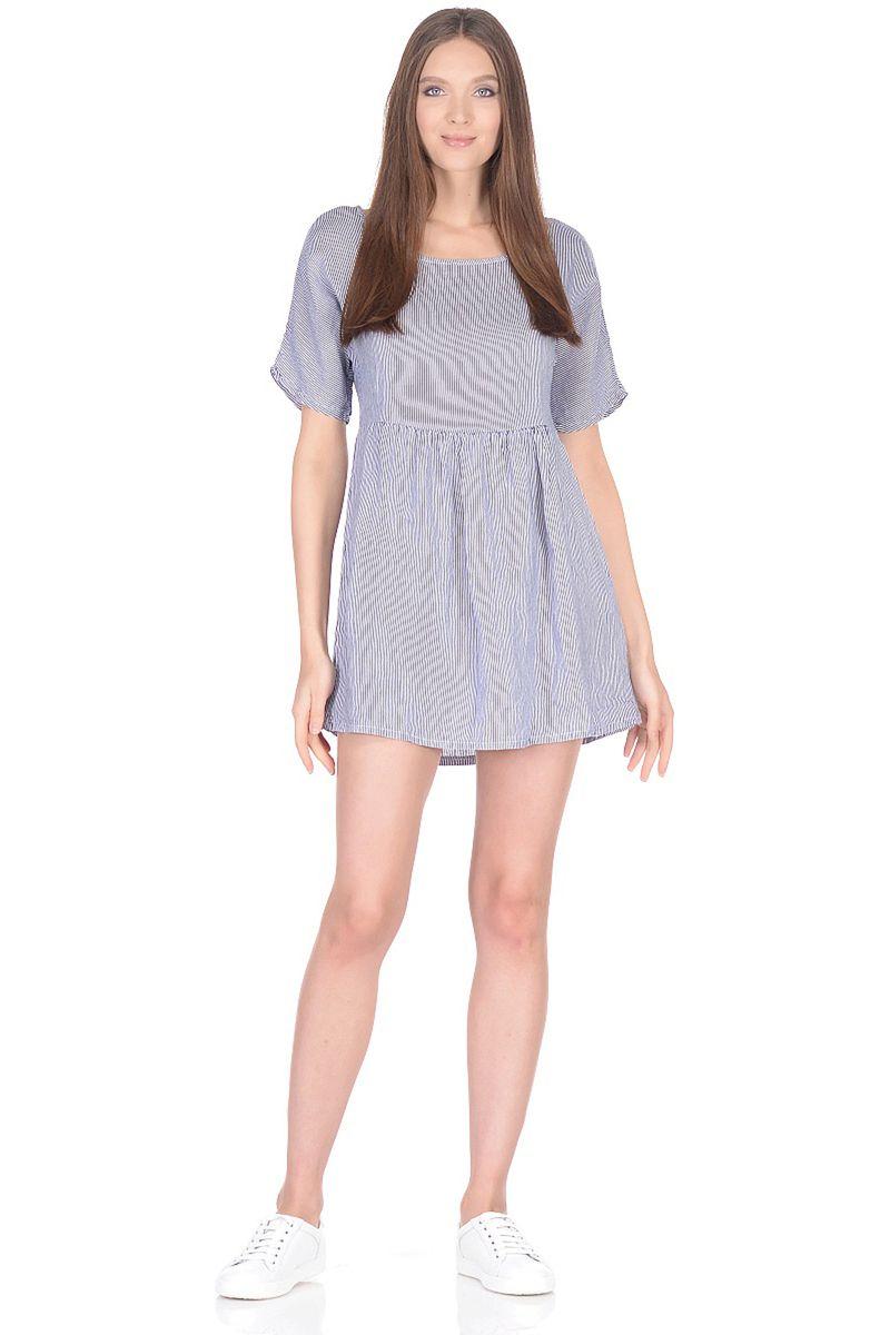 Платье Baon, цвет: синий. B458105_Dark Navy Striped. Размер L (48)