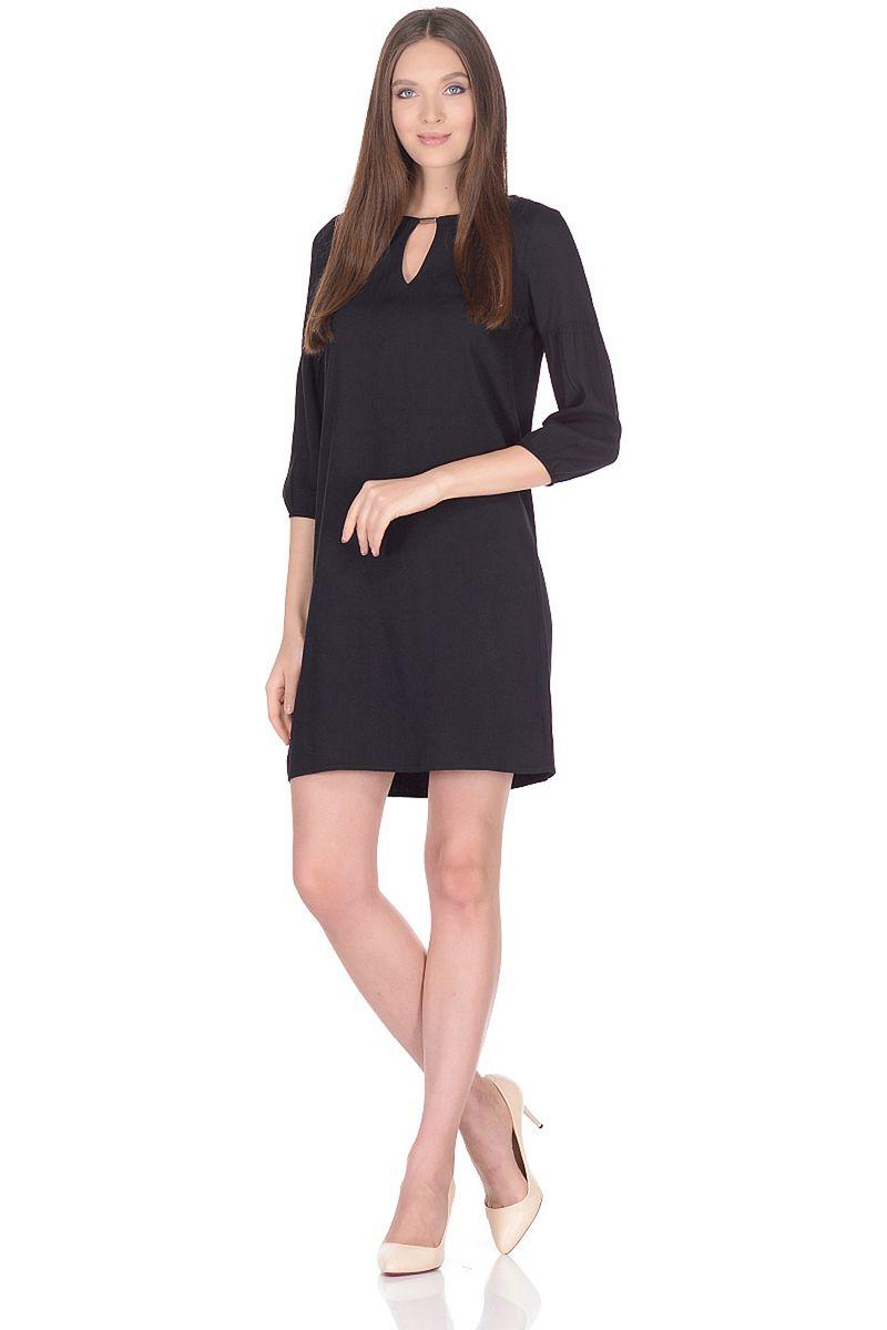 Платье женское Baon, цвет: черный. B458039_Black. Размер S (44)B458039_Black