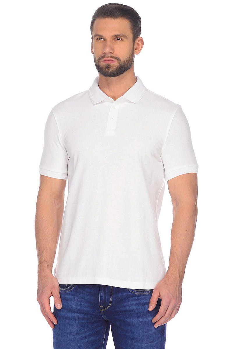 Поло мужское Baon, цвет: белый. B708201_White. Размер L (50)B708201_White