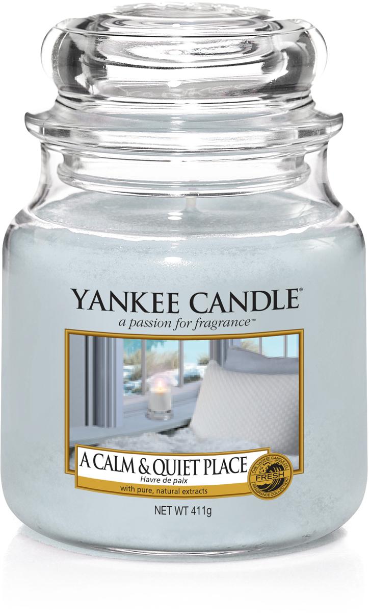 Свеча ароматизированная Yankee Candle Тишина и спокойствие, 411 г автомобильные ароматизаторы yankee candle авто ароматизатор стик ночной жасмин car vent stick midnight jasmine