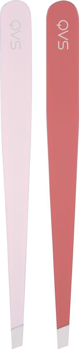 QVS Набор пинцетов для бровей, 2 шт. 82-10-164182-10-1641Нержавеющая сталь и плотно прилегающие скошенные кончикиУдобны в использовании благодаря естественному положению в руке