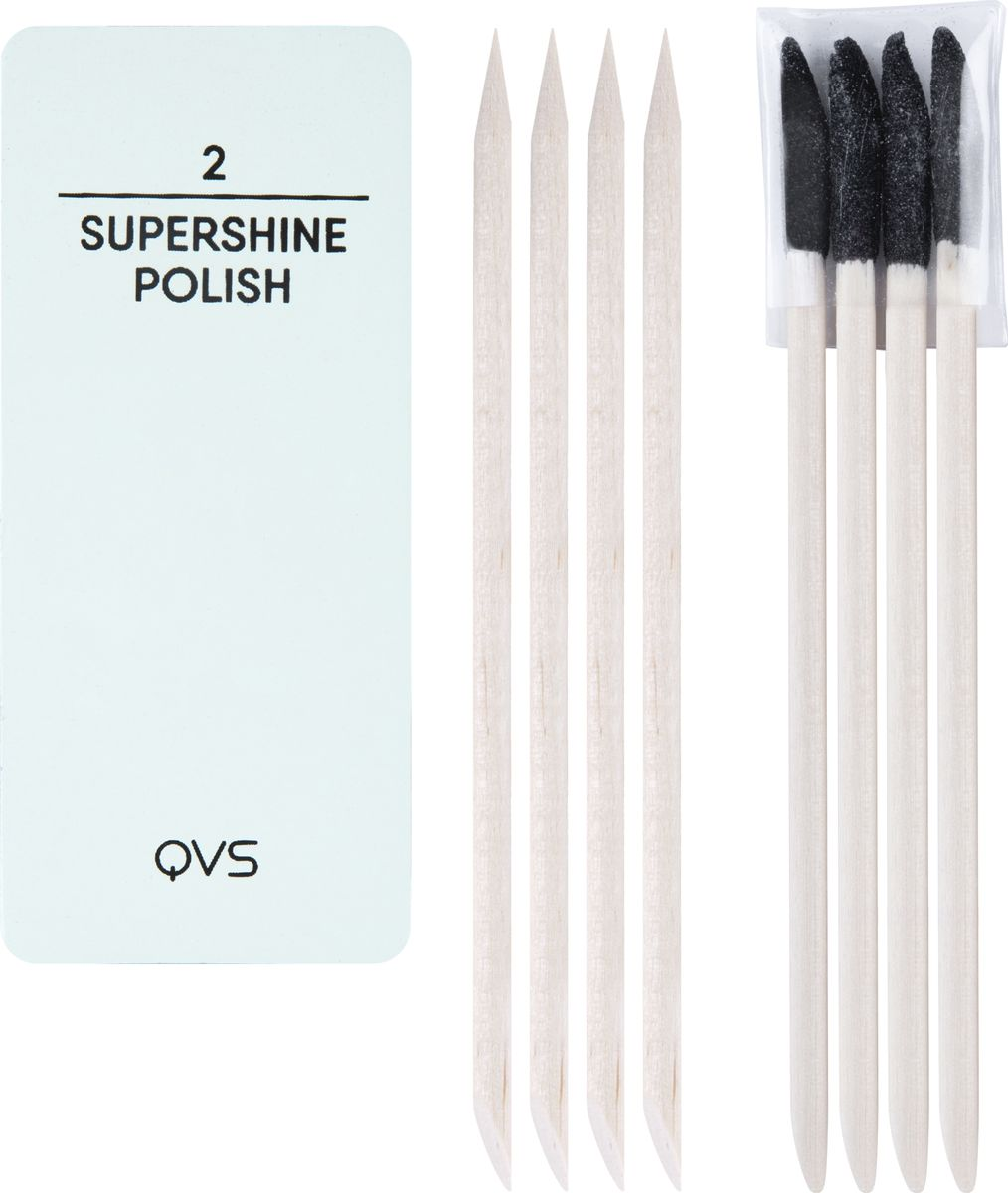 QVS Набор для ухода за ногтями и кутикулой (мини-баф/полировка, палочки для кутикулы). 82-10-1679
