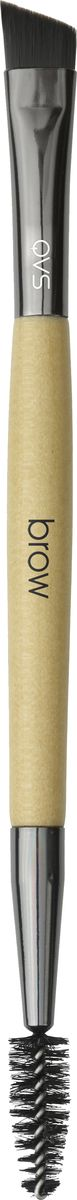 QVS Двусторонняя щетка-кисть для бровей. 82-10-1687 щетка кисть для лица angels and demons