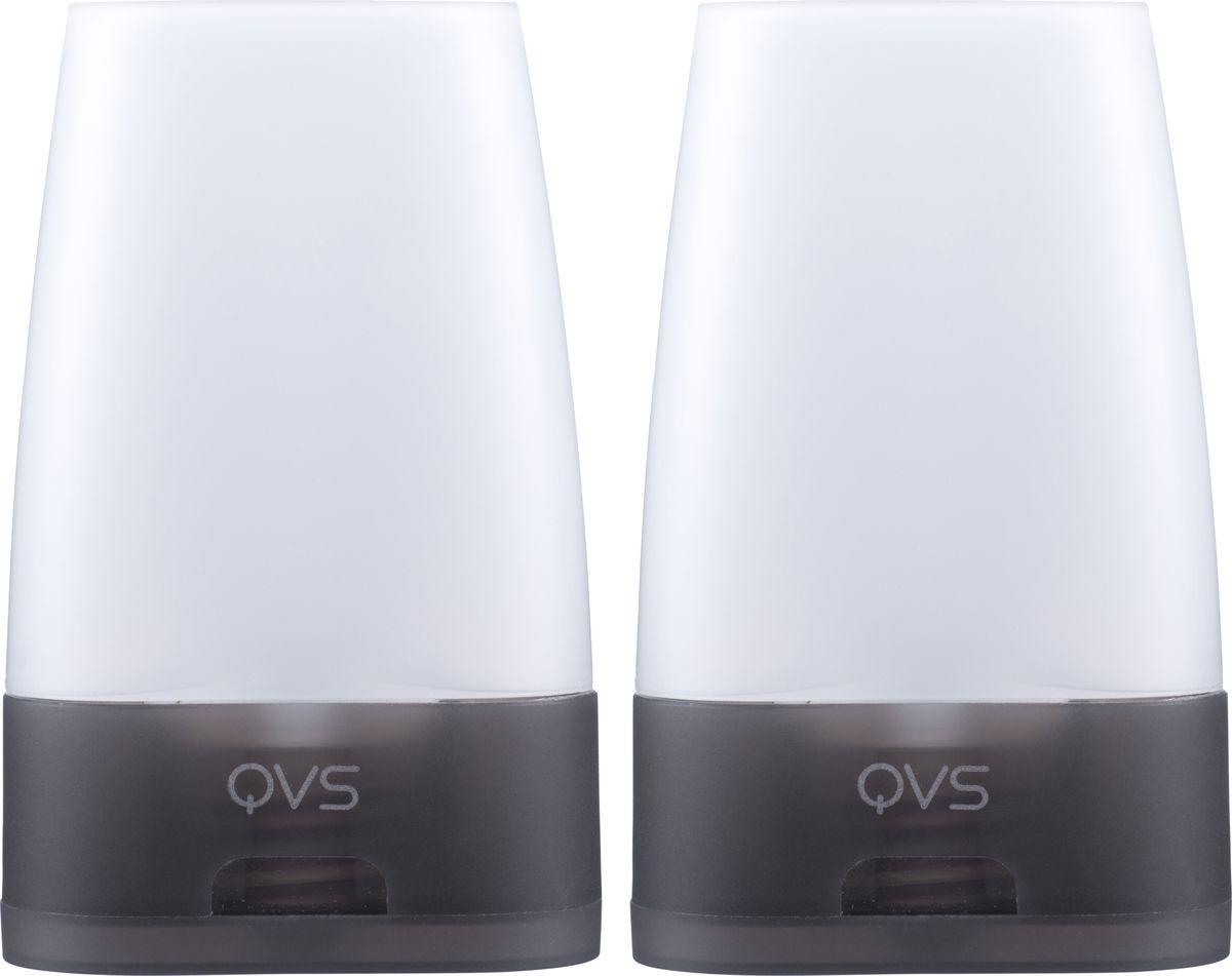 QVS Дорожные флаконы, 2 шт. 82-10-1721 qvs очищающие спонжи для лица 2 шт 82 10 1719