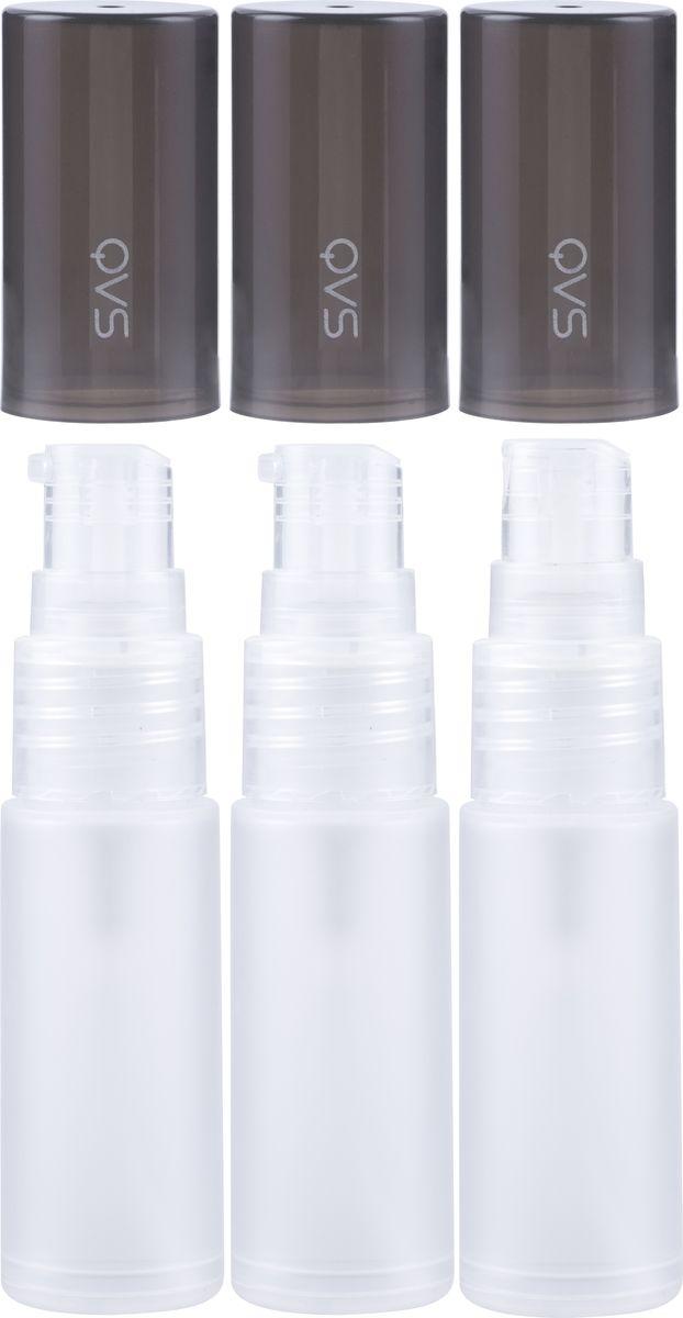 QVS Дорожные флаконы, 3 шт. 82-10-1722 qvs двусторонние спонжи для макияжа 2 шт 82 10 1712