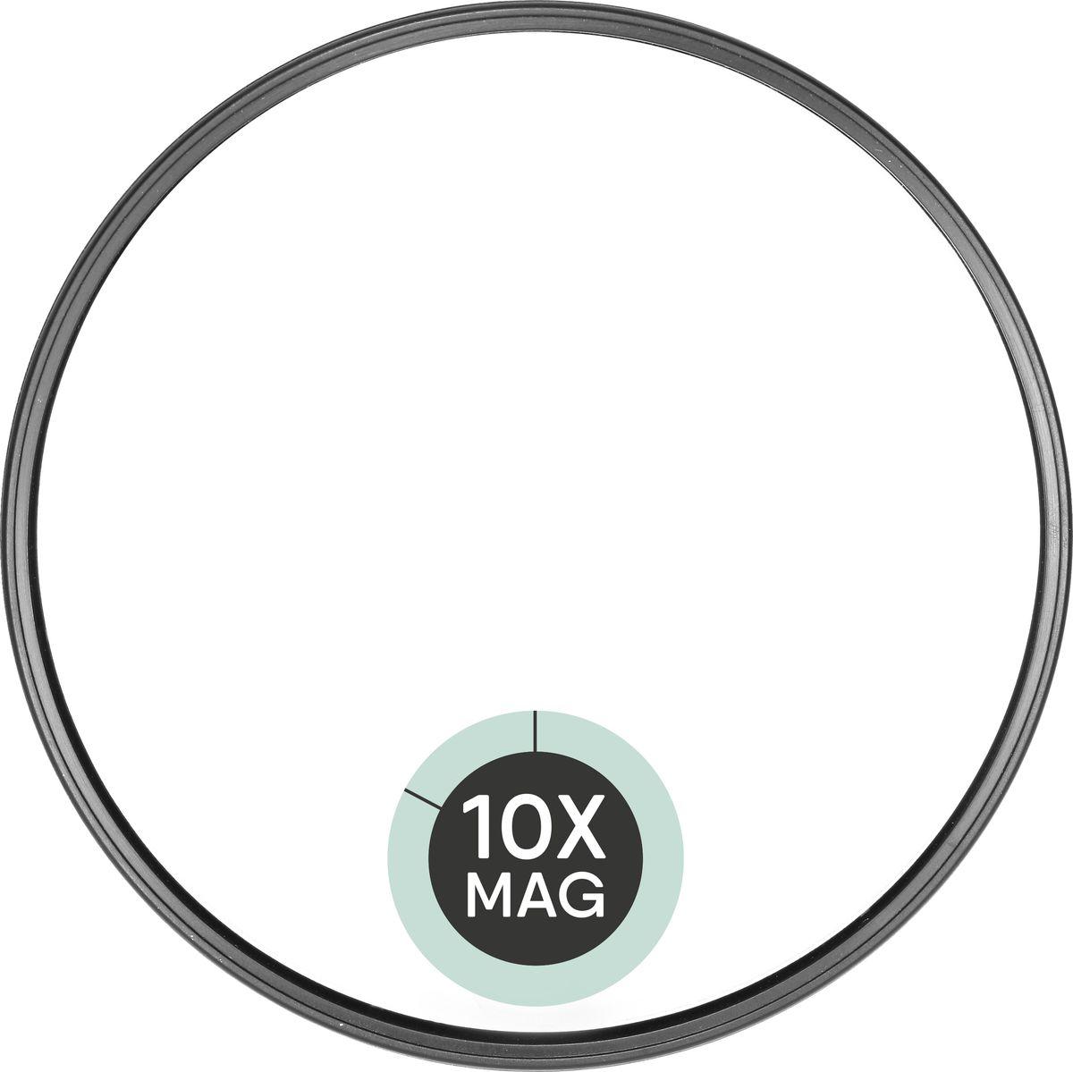 QVS Зеркало для макияжа с 10-кратным увеличением. 82-10-1733 qvs зеркало для макияжа с 10 кратным увеличением 82 10 1733