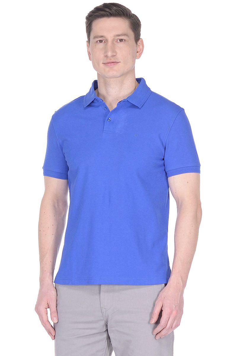 Поло мужское Baon, цвет: синий. B708201_Aegean Sea. Размер XXL (54)B708201_Aegean Sea