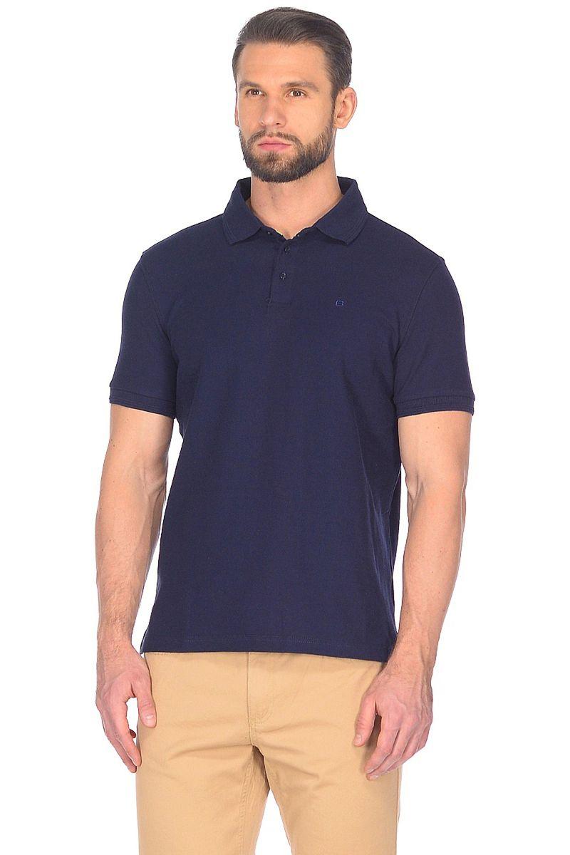 Поло мужское Baon, цвет: синий. B708201_Deep Navy. Размер XXL (54)B708201_Deep Navy