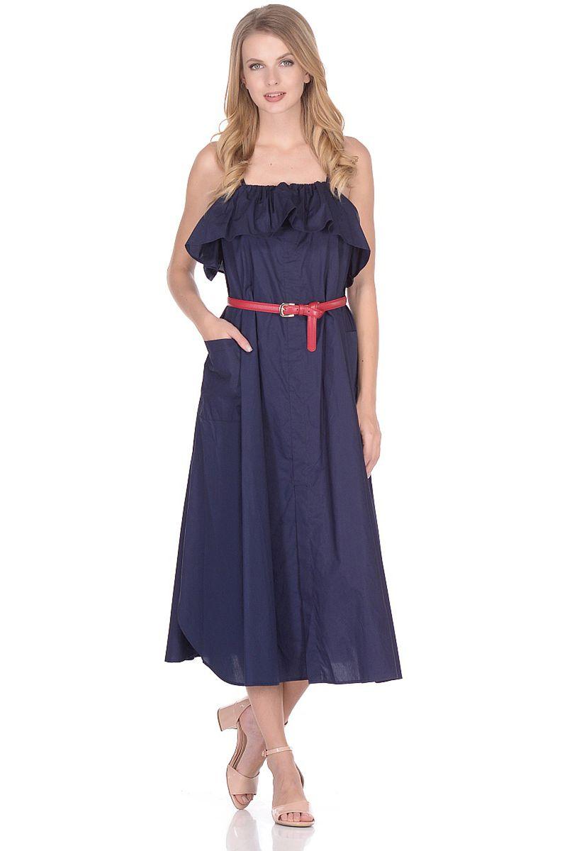 Сарафан женский Baon, цвет: синий. B468004_Dark Navy. Размер S (44)B468004_Dark Navy