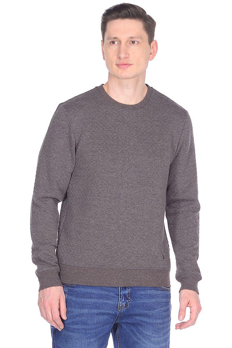 Свитшот мужской Baon, цвет: серый. B618002_Dark Grey Melange. Размер XXL (54)