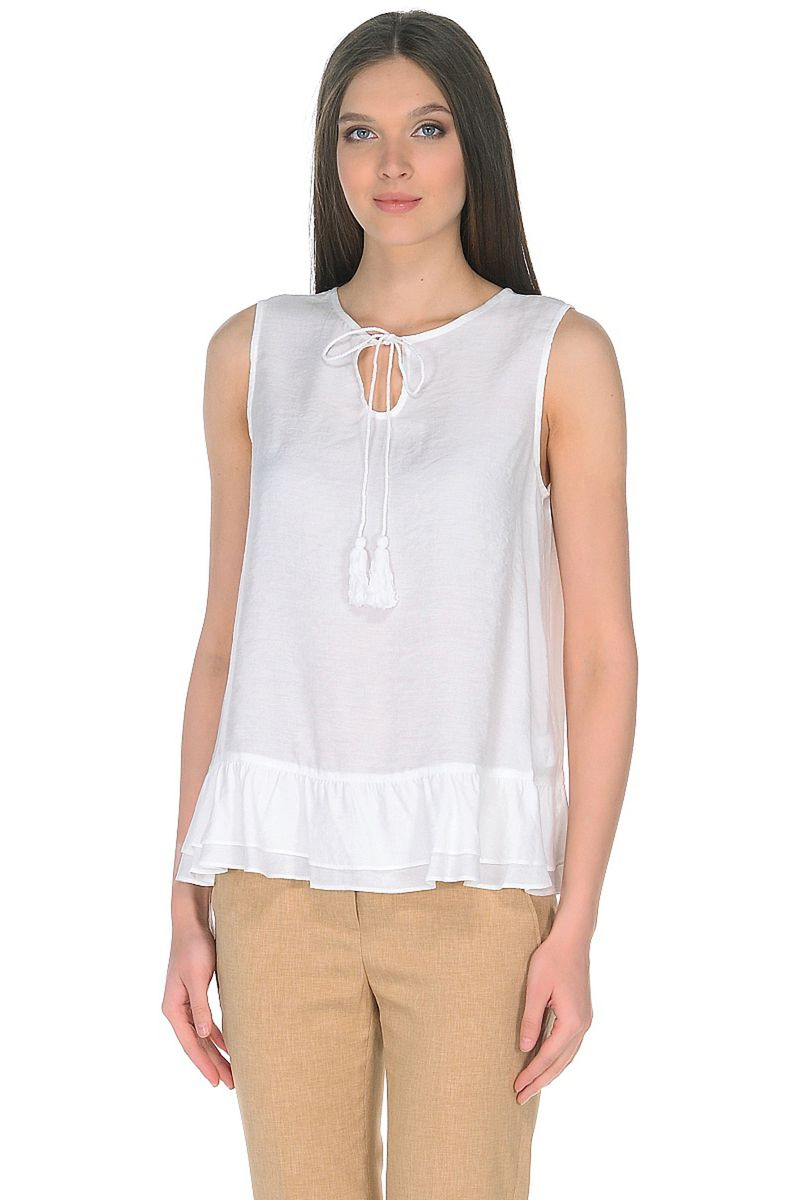 Топ женский Baon, цвет: белый. B268020_White. Размер XL (50) кардиган женский baon цвет черный b147505 black размер xl 50