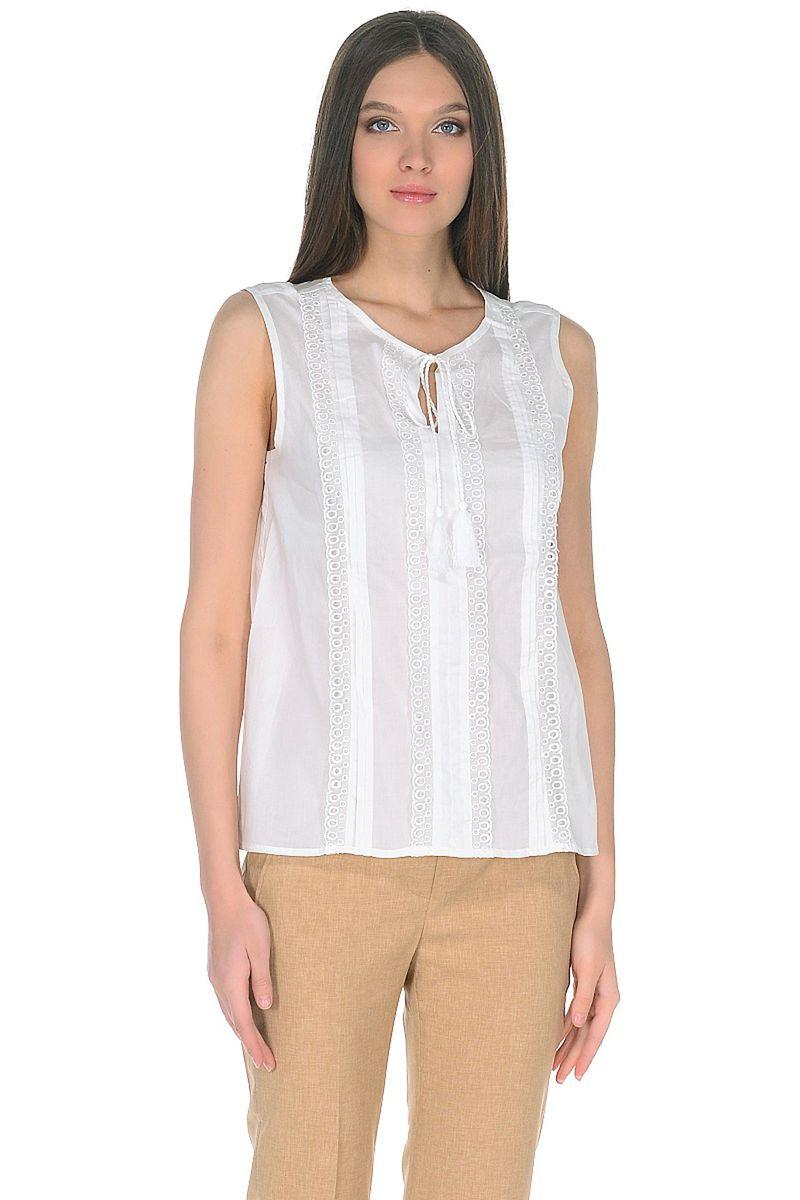 Топ женский Baon, цвет: белый. B268029_White. Размер XL (50) кардиган женский baon цвет черный b147505 black размер xl 50