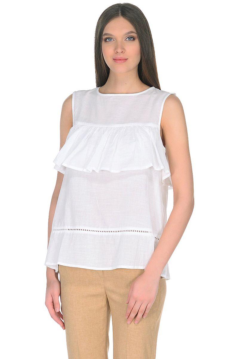 Топ женский Baon, цвет: белый. B268054_White. Размер M (46)B268054_White