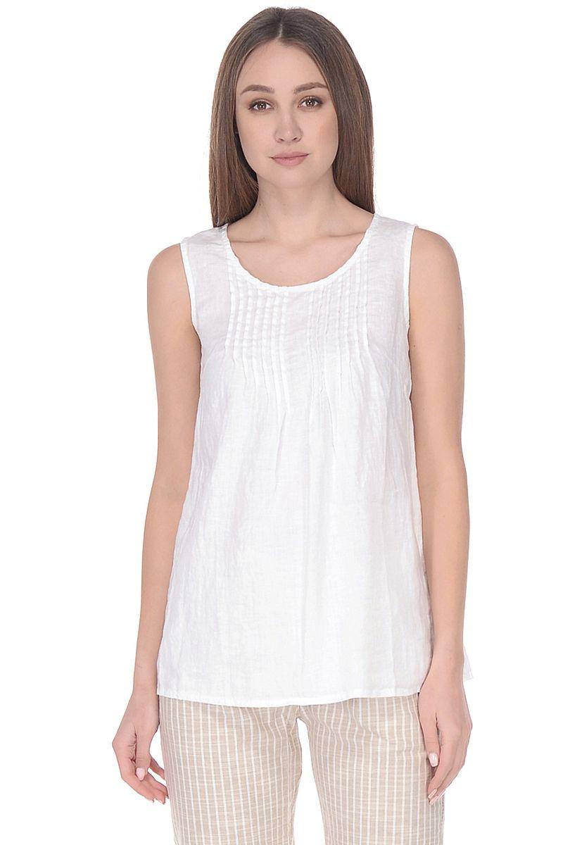 Топ женский Baon, цвет: белый. B268056_White. Размер XL (50) кардиган женский baon цвет черный b147505 black размер xl 50