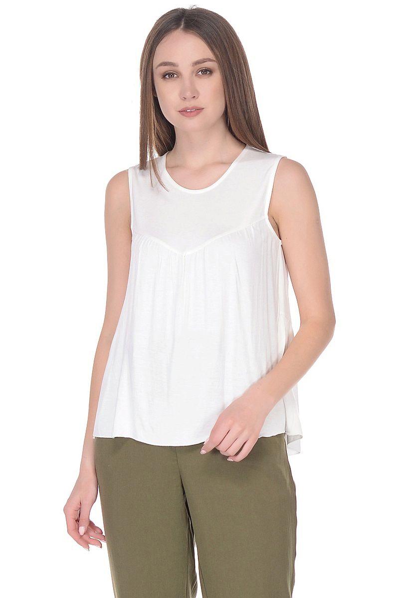 Топ женский Baon, цвет: белый. B268062_Milk. Размер XS (42)B268062_Milk