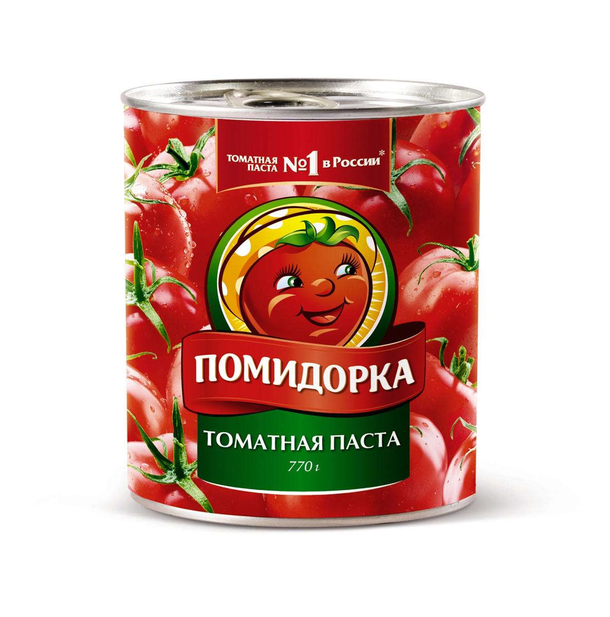 Помидорка Томатная паста, 770 г домашние разносолы томатная паста 380 г